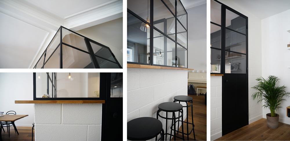 Fenetre sur cour architecte paris 18 me bardin - Verriere entre cuisine et salle a manger ...